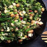 Asparagus, Chickpea, Pea & Macadamia Nut salad