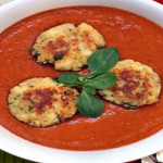 Roasted Tomato Soup with Ricotta Fritters