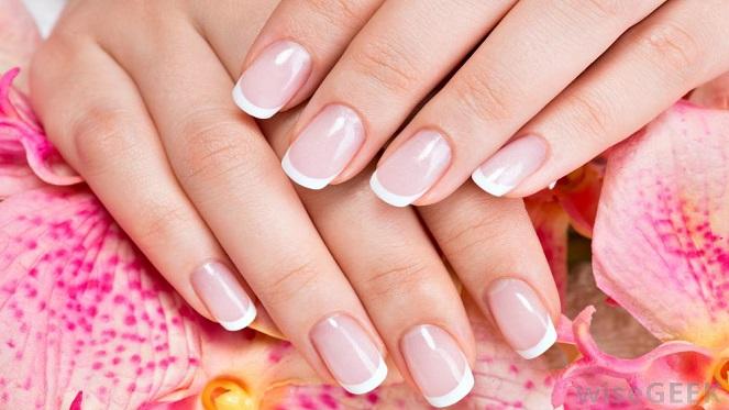 Amaris Nail Boutiques french manicure on woman's fingernails