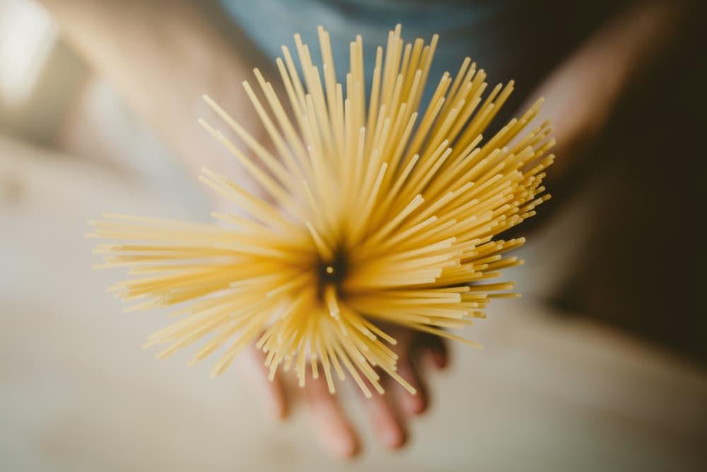 Re-purpose spaghetti as a match