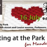 Knitting At The Park For Mandela Day