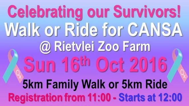 CANSA 5km Walk or Ride
