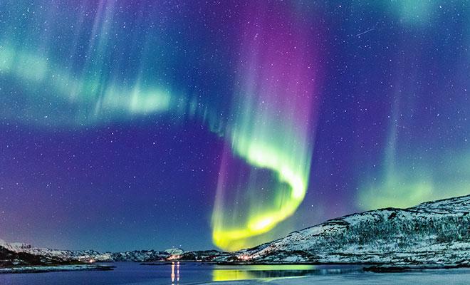 northern lights at night