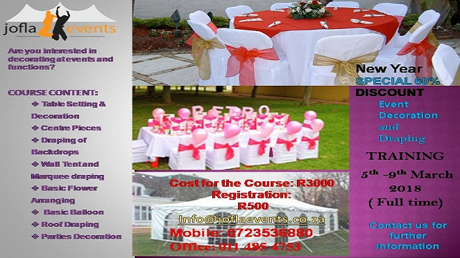 Event Decoration and Draping Course