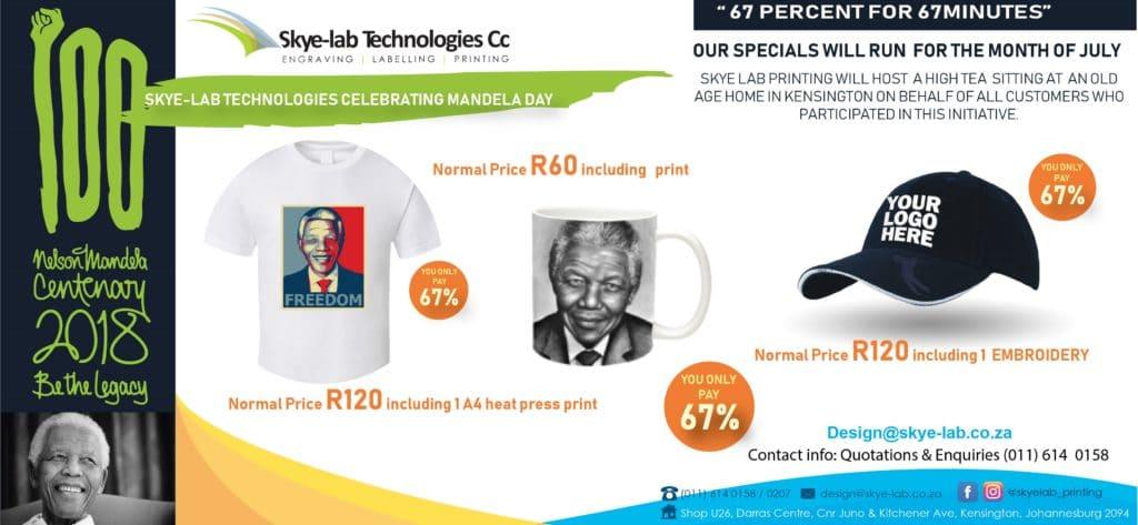 Skye-Lab Mandela Day Promotion
