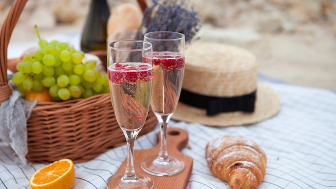 Champagne and Gin picnic