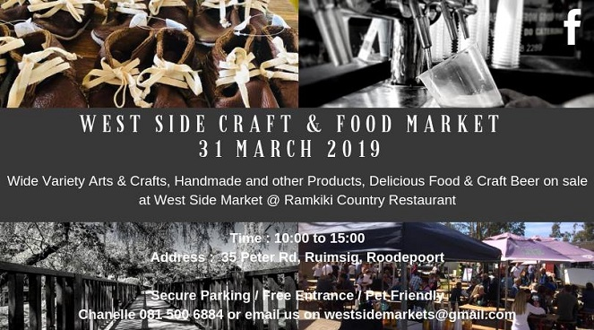 Visit The West Side Craft & Food Market In Roodepoort