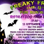 Freaky Friday the 13th Fun Run/Walk At Rietvlei Zoo