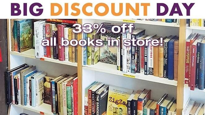 Bookdealers Greenside Big Discount Day