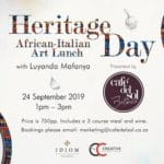 Art of Dining - Heritage Day African-Italian Art Lunch
