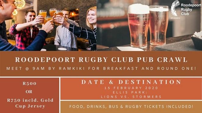 Roodepoort Rugby Club Pub Crawl