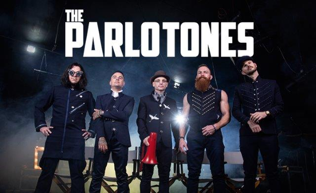 the parlotones band with blue and black background