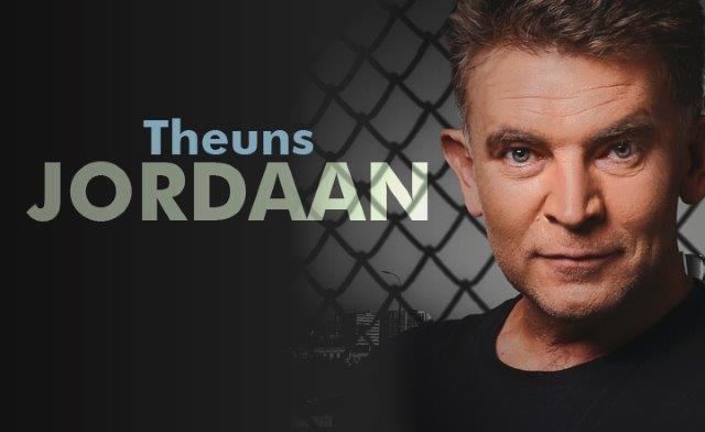 Theuns Jordaan singer with black background