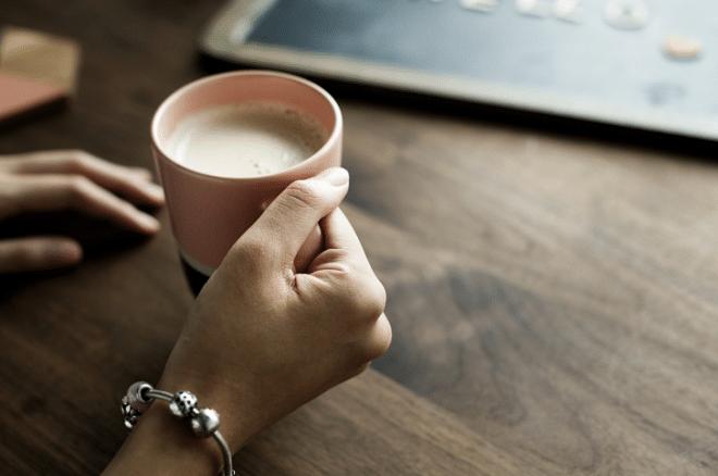cup of tea in hand