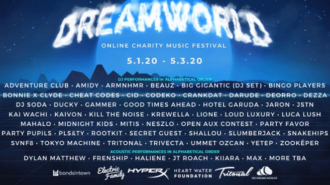 DREAMWORLD: Online Charity Music Festival