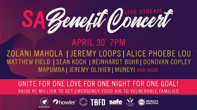 One Love SA Benefit Live Stream Concert