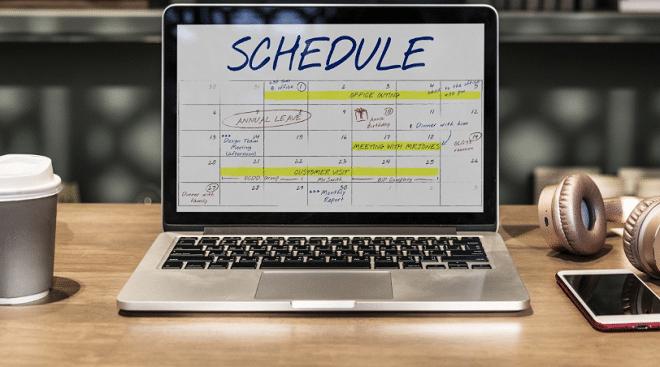 annual calendar rescheduling