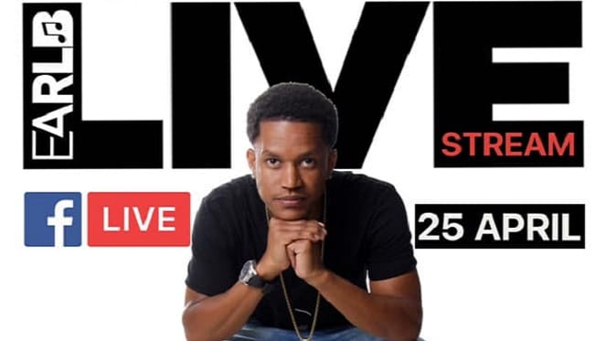 earl b poster for live stream event