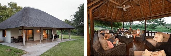 senalala safari lodge outside view of chalet and outside seating area