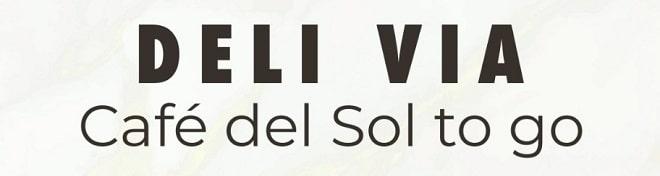deli via black and white logo