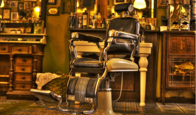 barber shop with a barber chair
