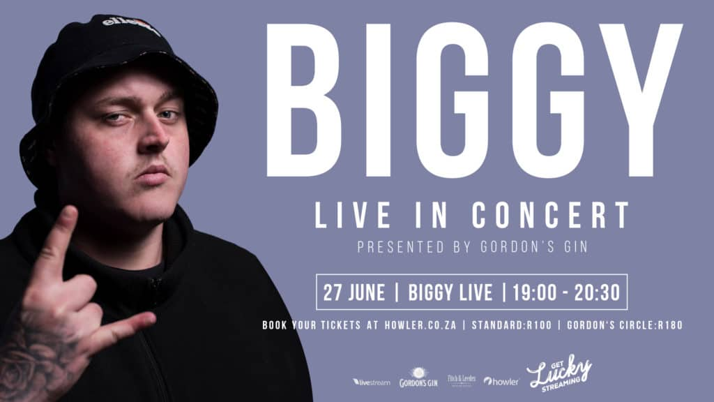 Biggy At Get Lucky Streaming, Presented By Gordon's Gin