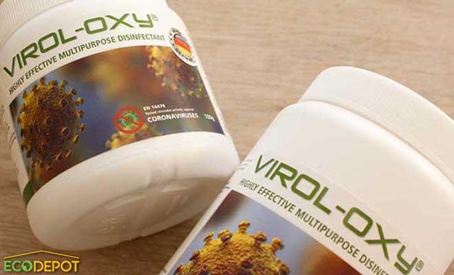 virol oxy in a white bottle