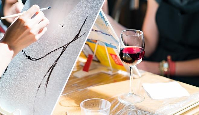 sip wine paint