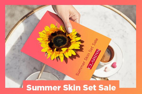 clarins summer skin set sale